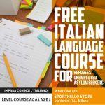 Corsi-di-Italiano-gratuiti-per-Immigrati,-rifugiati,-disoccupati-richiedenti-asilo in Italia